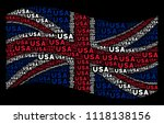 waving british state flag on a... | Shutterstock .eps vector #1118138156