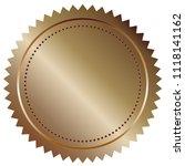 stamp seals in bronze color 3d... | Shutterstock . vector #1118141162