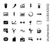bar icon. collection of 25 bar... | Shutterstock .eps vector #1118142032