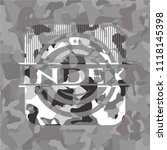 index grey camouflaged emblem | Shutterstock .eps vector #1118145398