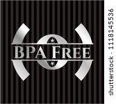 bpa free silver emblem | Shutterstock .eps vector #1118145536