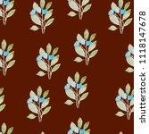 pattern  watercolor flowers ... | Shutterstock . vector #1118147678