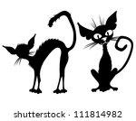 vector black cats. | Shutterstock .eps vector #111814982