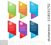 gradient infographics step by...   Shutterstock .eps vector #1118151752