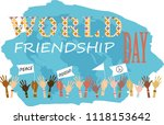 international friendship day | Shutterstock .eps vector #1118153642