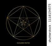 pentagram. pentagonal star.... | Shutterstock .eps vector #1118154575