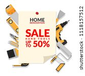 home repair tools set isolated... | Shutterstock .eps vector #1118157512