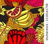 tropical seamless pattern... | Shutterstock .eps vector #1118161748