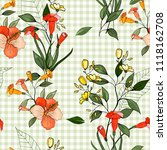 trendy floral pattern. isolated ...   Shutterstock .eps vector #1118162708