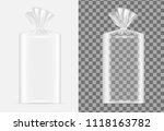 transparent blank packaging for ... | Shutterstock .eps vector #1118163782