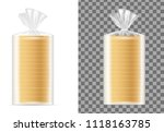 transparent blank packaging... | Shutterstock .eps vector #1118163785