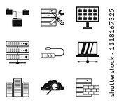 cloud technology icons set.... | Shutterstock . vector #1118167325