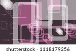 tech pattern. colorful... | Shutterstock .eps vector #1118179256