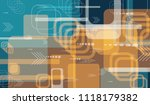 tech background. colorful... | Shutterstock .eps vector #1118179382