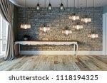 bright modern empty room... | Shutterstock . vector #1118194325