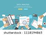 data analysis  business meeting ... | Shutterstock .eps vector #1118194865