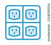 outlet socket switch  | Shutterstock .eps vector #1118195516