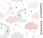 cute sky pattern. seamless... | Shutterstock .eps vector #1118203952