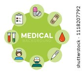 medical background with icons   ... | Shutterstock .eps vector #1118207792