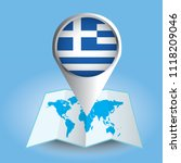 world map centered on europe... | Shutterstock .eps vector #1118209046