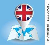 world map centered on europe... | Shutterstock .eps vector #1118209352