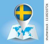 world map centered on europe... | Shutterstock .eps vector #1118210726