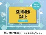 summer sale banner template...   Shutterstock .eps vector #1118214782