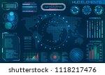 futuristic hud design elements. ... | Shutterstock .eps vector #1118217476