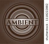 ambient badge with wooden... | Shutterstock .eps vector #1118222882