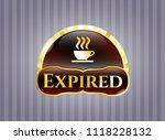 gold emblem or badge with... | Shutterstock .eps vector #1118228132