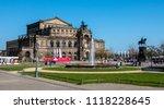 dresden  germany   april 10 ...   Shutterstock . vector #1118228645