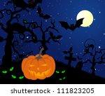 happy halloween theme greeting...   Shutterstock .eps vector #111823205