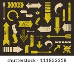 a set of old scratched arrows.... | Shutterstock .eps vector #111823358