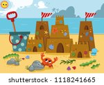 sand castle  on the coast of... | Shutterstock .eps vector #1118241665