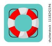 vector illustration of lifebuoy ... | Shutterstock .eps vector #1118242196
