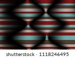 distorted striped surface. wavy ... | Shutterstock .eps vector #1118246495