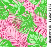 tropic seamless pattern with... | Shutterstock .eps vector #1118248142