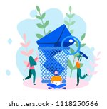 concept envelope with rejected... | Shutterstock .eps vector #1118250566