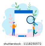 concept businessman holding ... | Shutterstock .eps vector #1118250572