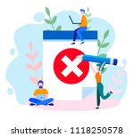 concept envelope with rejected... | Shutterstock .eps vector #1118250578