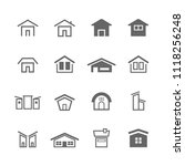 simple house icon set | Shutterstock .eps vector #1118256248