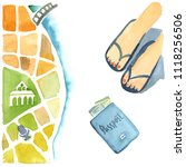watercolor illustration... | Shutterstock . vector #1118256506