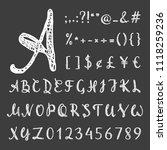 handwritten grunge script for... | Shutterstock .eps vector #1118259236