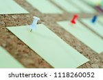 group of sticky notes on wall... | Shutterstock . vector #1118260052