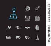 auto icons set. bus stop and...   Shutterstock .eps vector #1118262878
