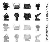 gold pistol  silver prize for...   Shutterstock .eps vector #1118277752