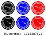 hawaii   rubber stamp   vector  ... | Shutterstock .eps vector #1118287826