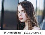 close up outdoor portrait of a... | Shutterstock . vector #1118292986