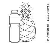 juice fruit bottle with... | Shutterstock .eps vector #1118295956
