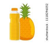 juice fruit bottle with... | Shutterstock .eps vector #1118296052